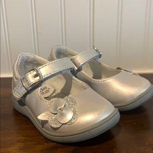 Silver dress shoes